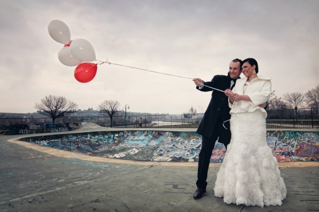 Skate park wedding GR